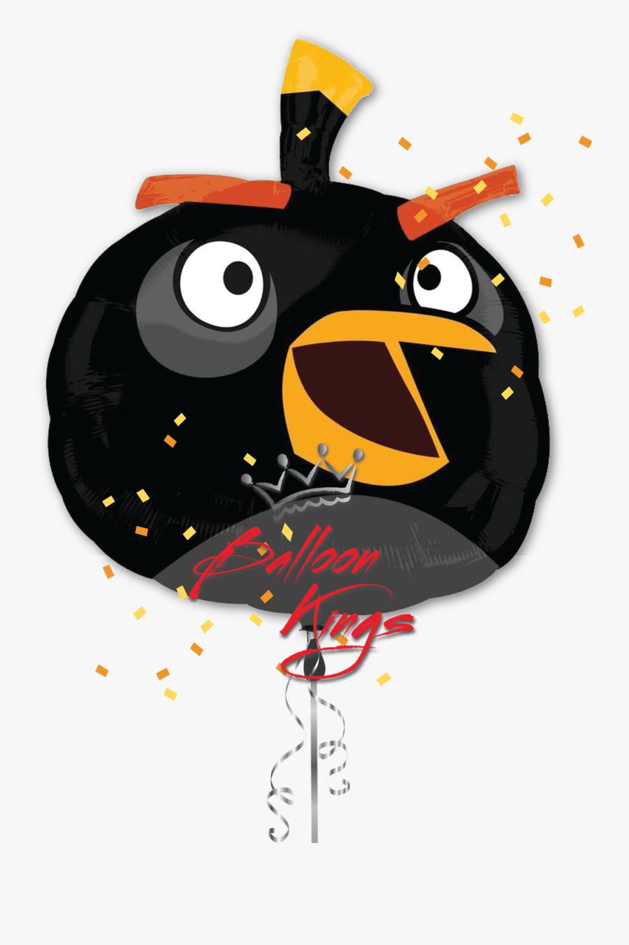 Transparent Angry Bird Png - Angry Birds Black Bird, Transparent Clipart