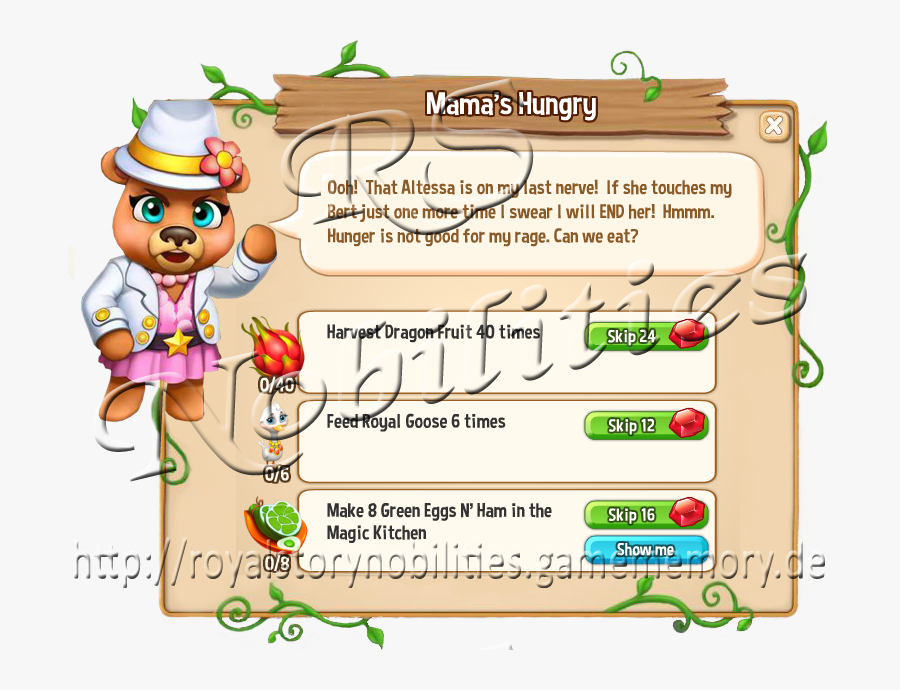 """1 Mama""""s Hungry - Royal Story Zac Y Merella, Transparent Clipart"""