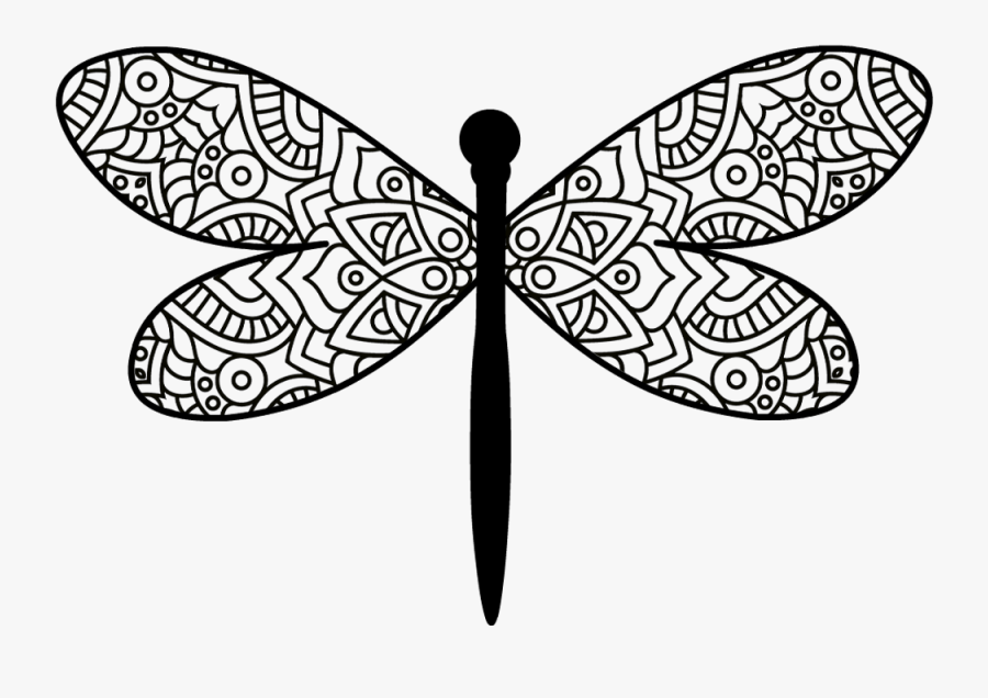 Collection Of Free Dragonfly Mandala Download On Ui - Dragonfly Mandala Svg Free, Transparent Clipart
