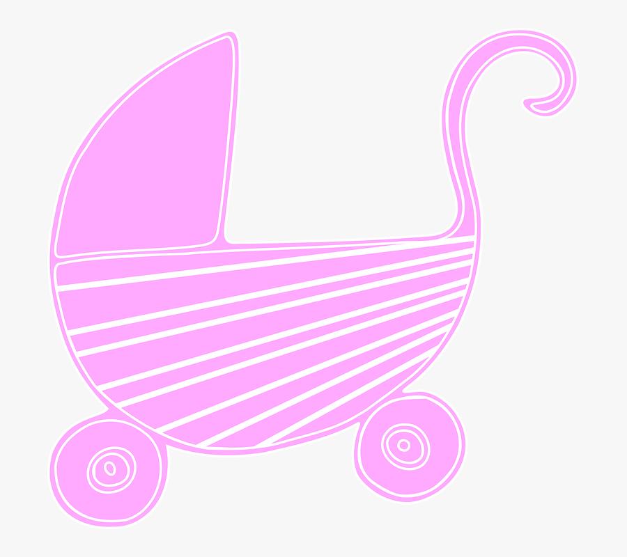 Baby, Stroller, Carriage, Pink, Cute, Girly - Carrinho De Bebe Desenho Fundo Transparente, Transparent Clipart