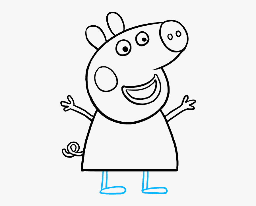 How To Draw Peppa Pig - Drawing Peppa Pig, Transparent Clipart