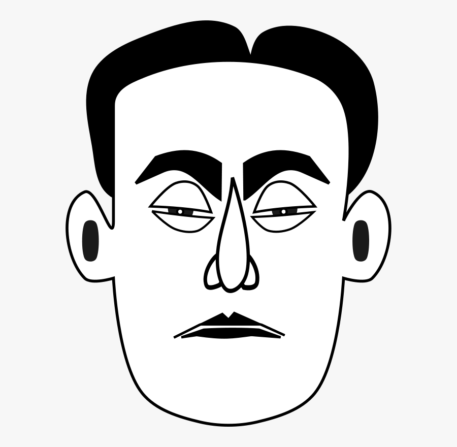 Emotion,art,monochrome Photography - Sad Man Face Clipart, Transparent Clipart