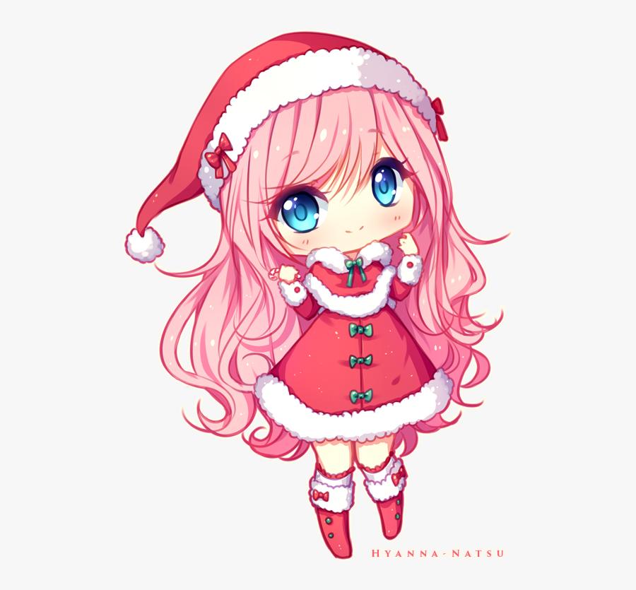 Cut,fictional Character,long Hair,wig,clip Art,art - Chibi Christmas, Transparent Clipart