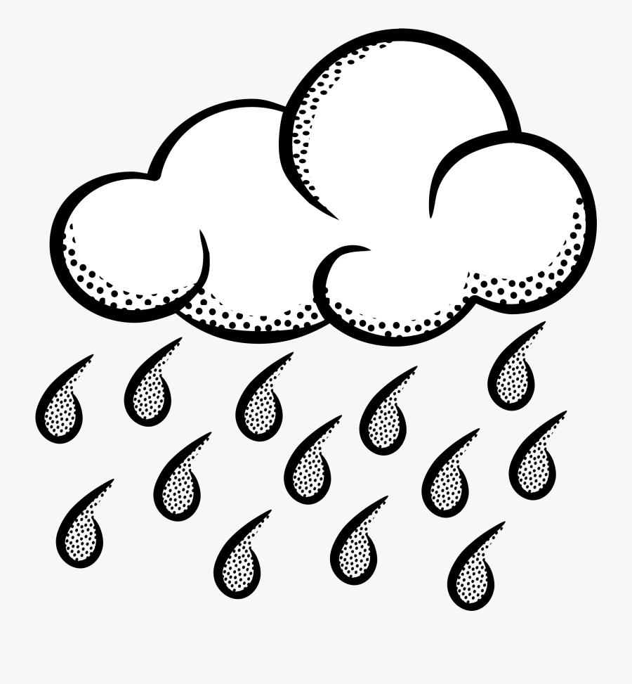 Rain Cloud Clipart Image Raincloud And Transparent - Rainy Weather Clipart Black And White, Transparent Clipart