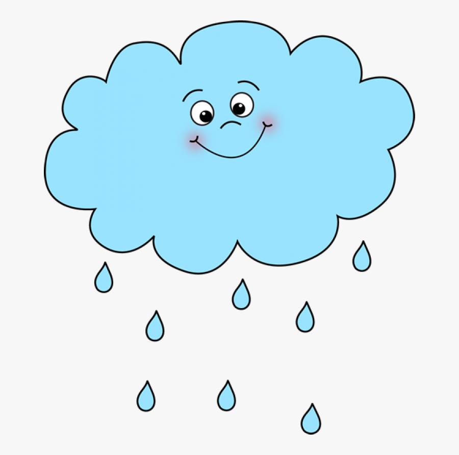 Happy Rain Cloud - Rain Clipart, Transparent Clipart