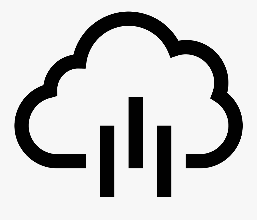 This Is A Drawing Of A Rain Cloud That Is Flat On The, Transparent Clipart