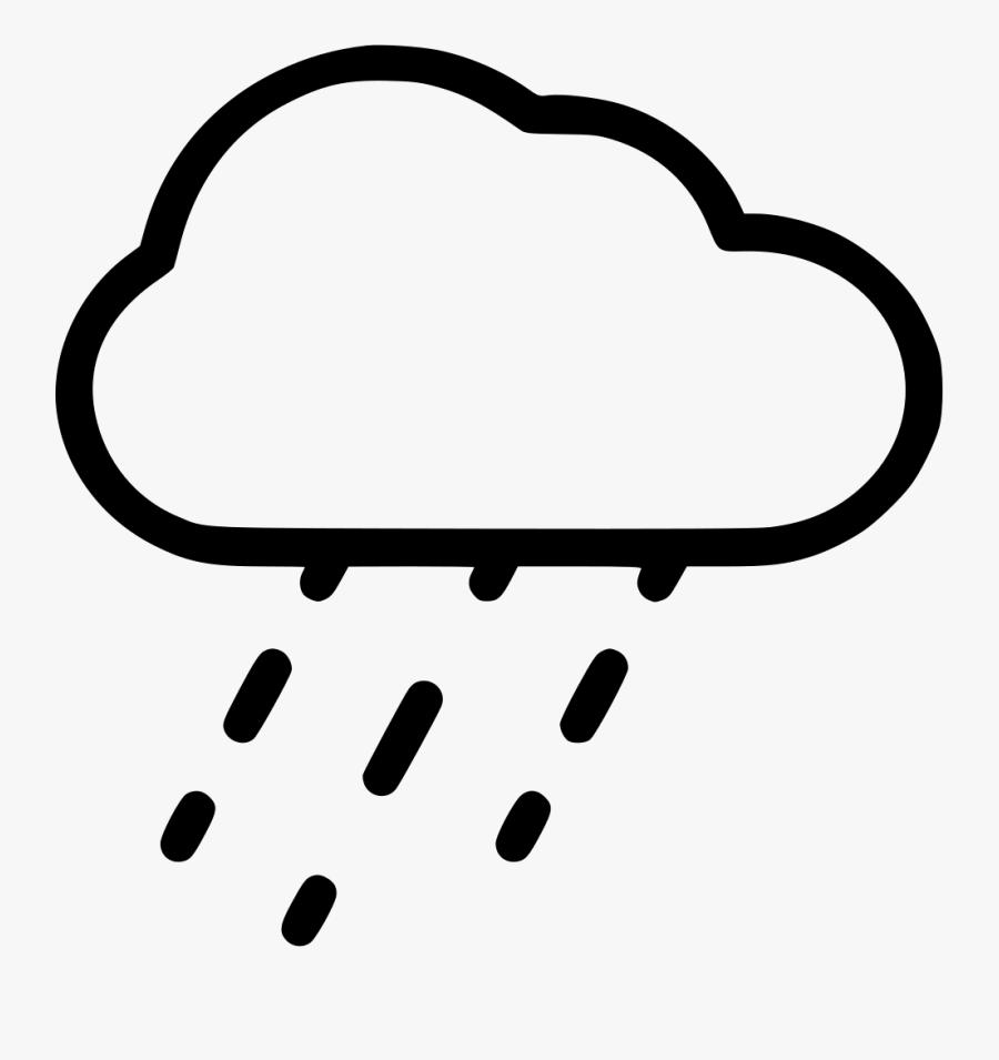 Weather Rain Cloud - Weather Rain Clouds Transparent Background, Transparent Clipart