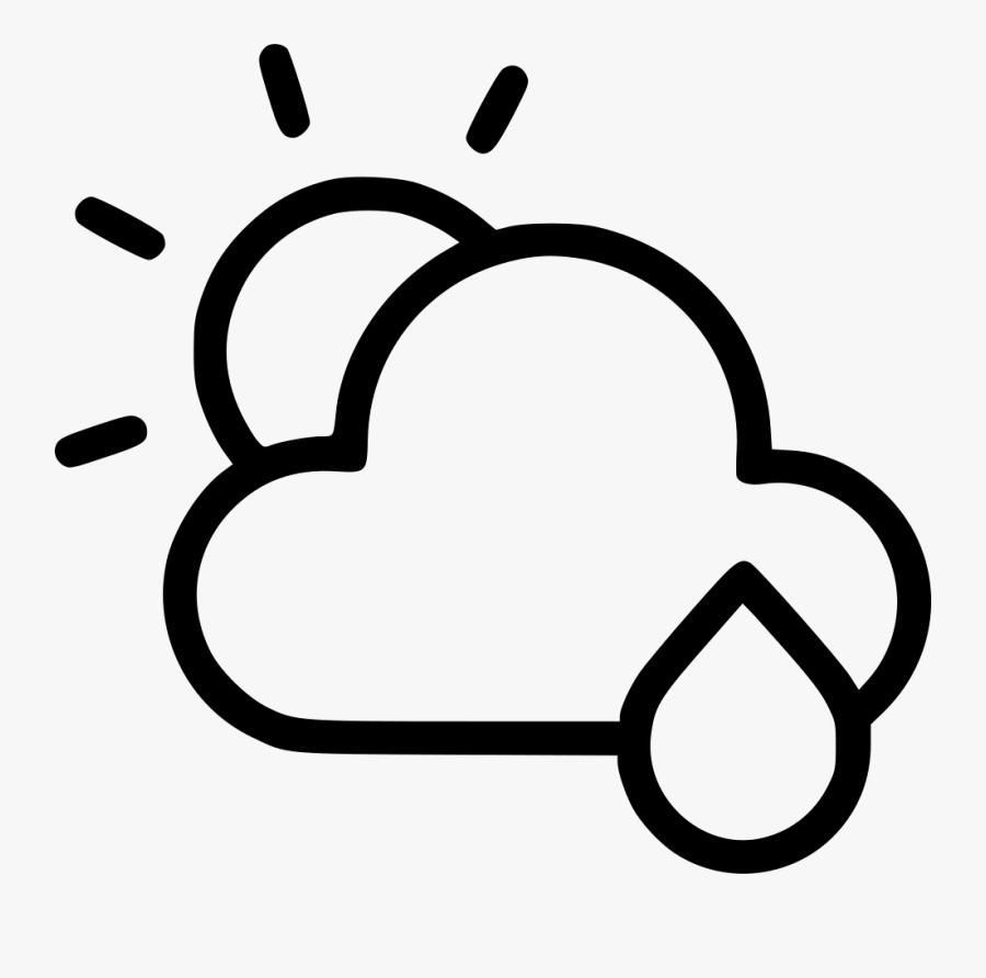 Weather Rain Cloud Clouds Cloudy Sun - Clouds Sun Icon Transparent, Transparent Clipart