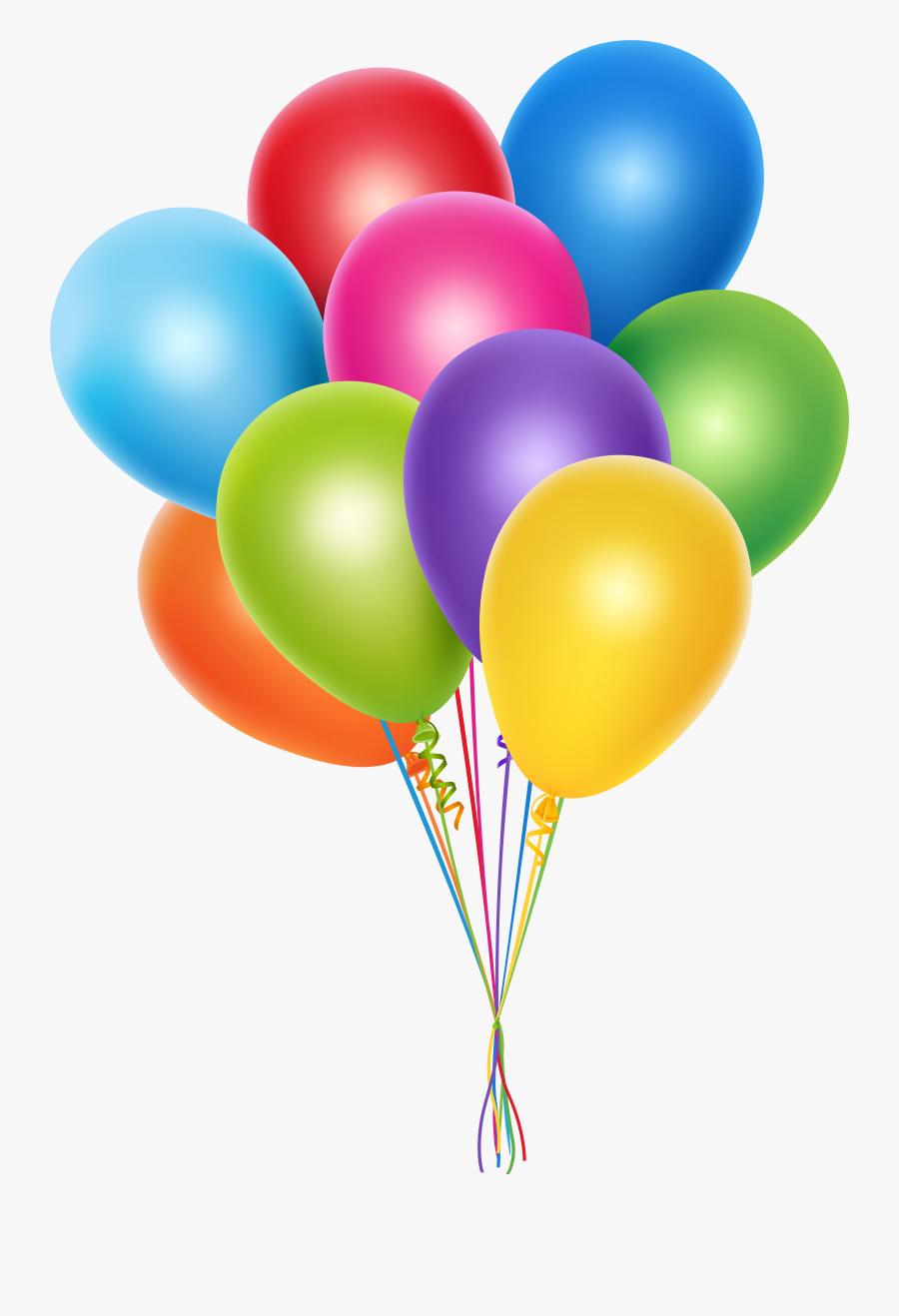 Balloon Clipart Bunch - Bunch Of Balloons Clipart, Transparent Clipart