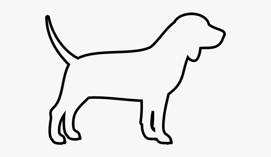 Beagle Rubber Stamp - Dog Drawing Side View, Transparent Clipart
