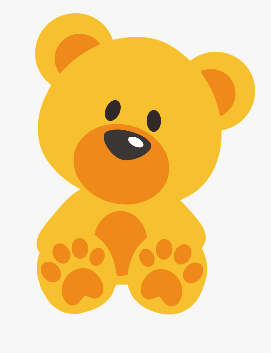Orange Teddy Bear Clipart - Teddy Bear Cartoon Png, Transparent Clipart