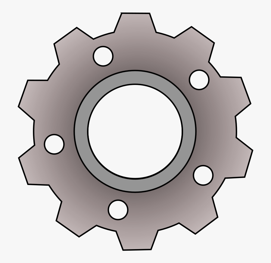 Simple Gear - Simple Mechanical Engineer Drawing, Transparent Clipart