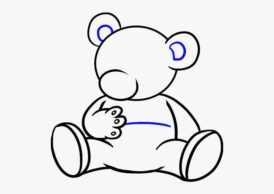 Clip Art Gangster Teddy Bear - Cartoon Bear How To Draw, Transparent Clipart
