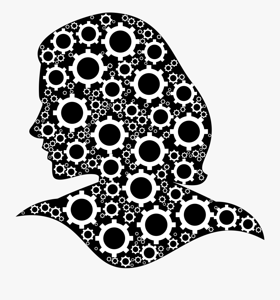 Transparent Brain Clipart Black And White - Colorful Pic Of Head, Transparent Clipart