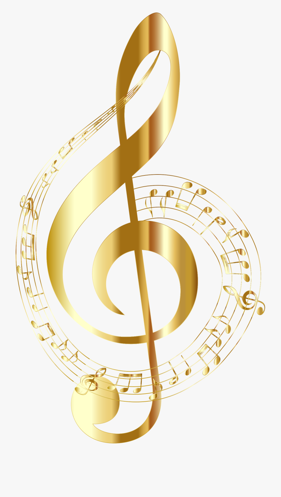 Image Result For Music Note - Gold Music Notes Transparent Background, Transparent Clipart