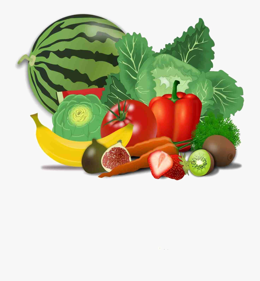 Fresh Healthy Food Transparent Png - Fruit And Vegetables Clip Art, Transparent Clipart