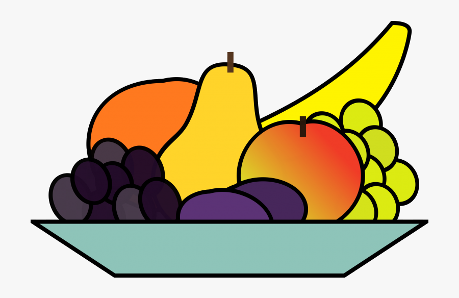 Healthy Food View Fruits Clipart Free Nutrition And - Clipart Fruit Bowl, Transparent Clipart