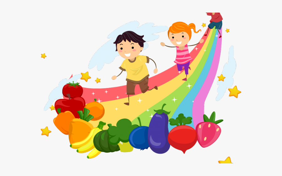 Transparent Healthy Clipart - Rainbow Kids Png Clipart , Free ...