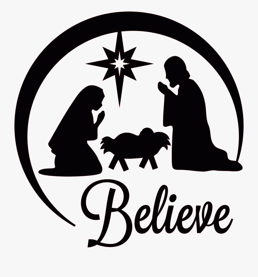 Transparent Nativity Clipart - Nativity Scene Silhouette Christmas, Transparent Clipart