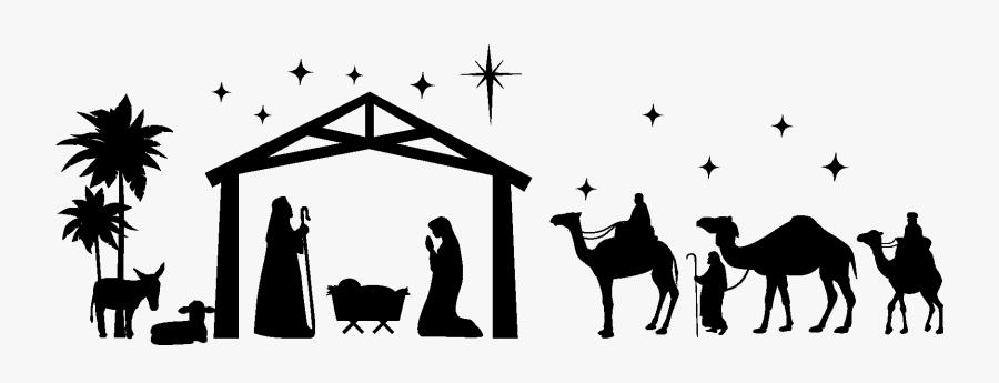 Nativity Scene Manger Christmas Nativity Of Jesus Clip - Nativity Scene No Background, Transparent Clipart