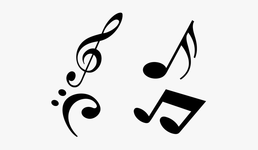 Music Notes Transparent Background - Musical Notes Tattoo Design, Transparent Clipart