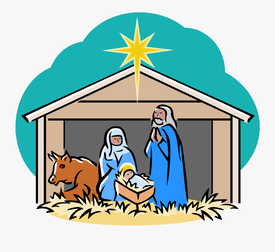 Collection Of Manger - Nativity Scene Clipart, Transparent Clipart