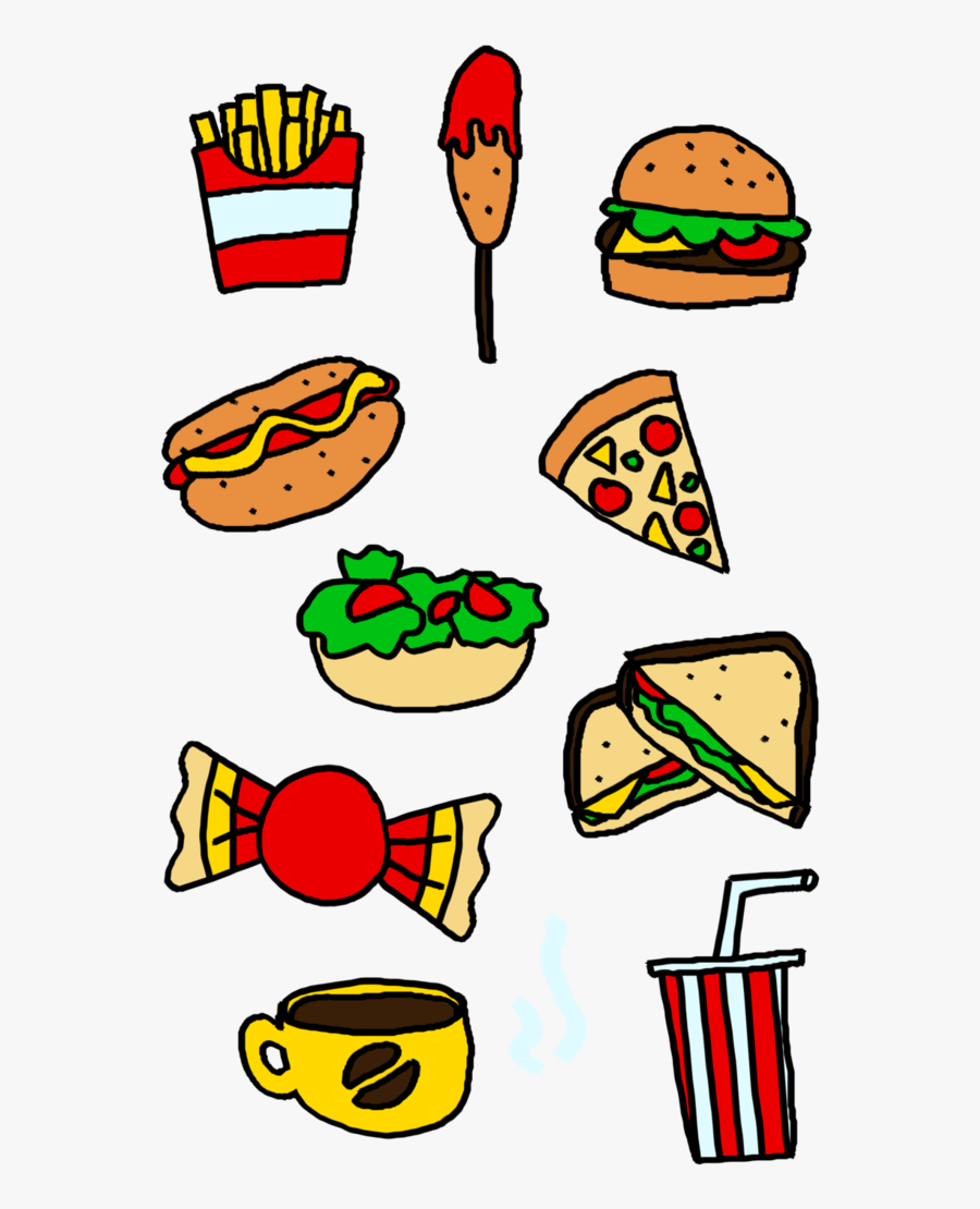 Food Groups Clipart At Getdrawings - Drawing Of Healthy Food And Junk Food, Transparent Clipart