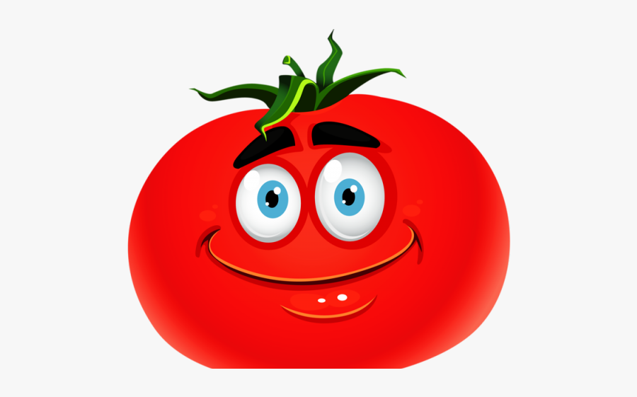 Smiley Tomato, Transparent Clipart