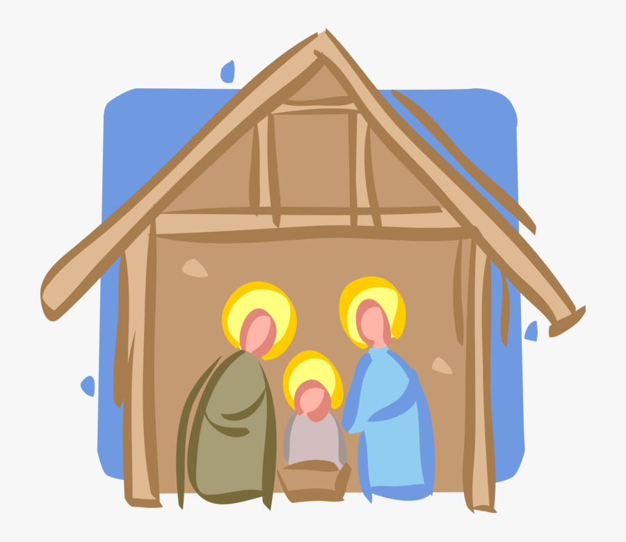 Vector Illustration Of Festive Season Christmas Nativity - Illustration, Transparent Clipart