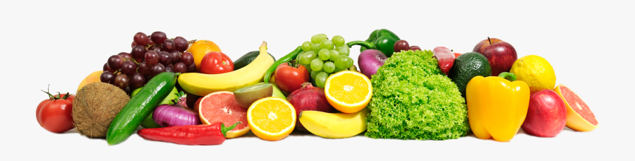 Healthy Food Png - Fruits And Vegetables Line, Transparent Clipart