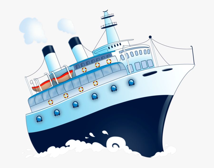 Clip Art Cartoon Pictures Of Cruise Ships - Корабль На Прозрачном Фоне, Transparent Clipart