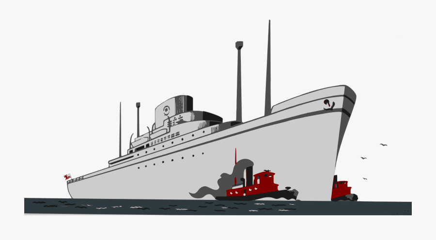 Watercraft,submarine Chaser,heavy Cruiser - Cruise Ship, Transparent Clipart