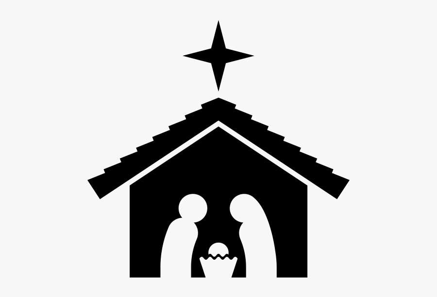 """Nativity Scene Rubber Stamp""""  Class=""""lazyload Lazyload, Transparent Clipart"""