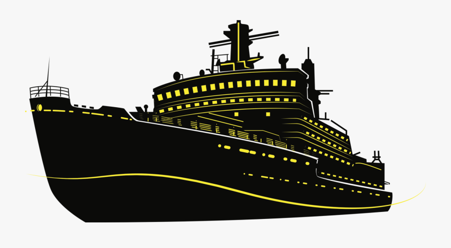 Cargo Ship Silhouette Cruise Ship Drawing - Cruise Ship Silhouette Png, Transparent Clipart