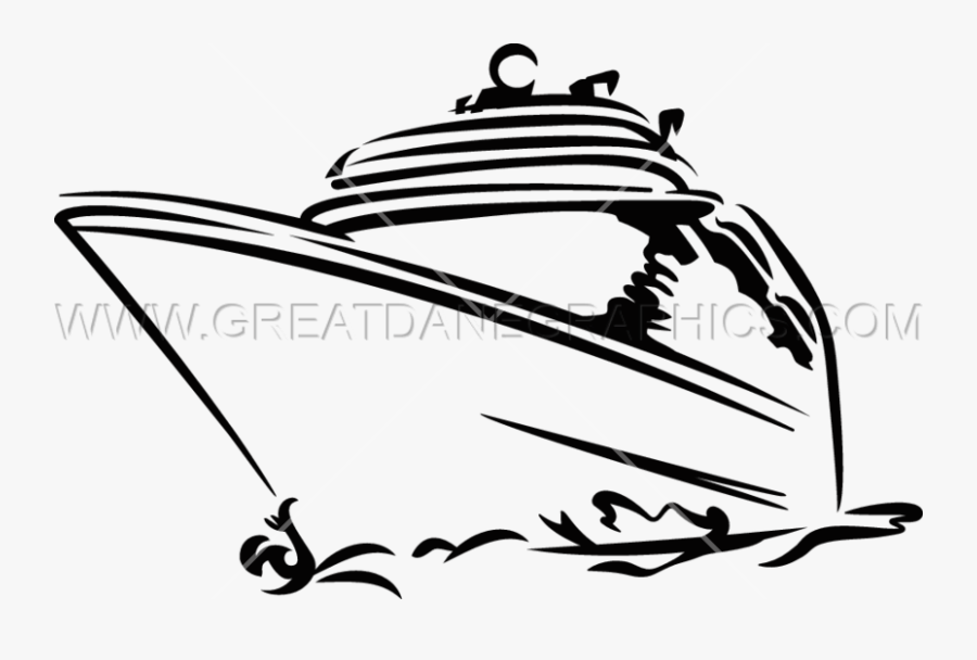 Cruise Ship Production Ready Artwork For T Shirt Printing - Clipart Cruise Ship Silhouette, Transparent Clipart