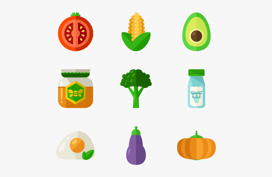 142 Healthy Food Icon Packs - Organic Food Icon Png, Transparent Clipart