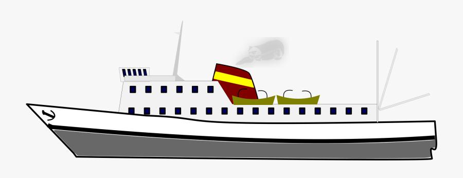 Motor Ship,watercraft,brand - Ship, Transparent Clipart