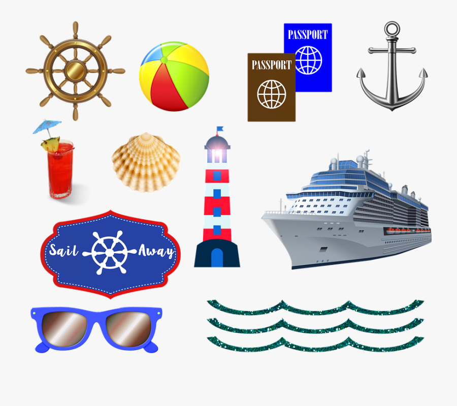 Transparent Cruise Ship Clipart - Cruise Passport, Transparent Clipart