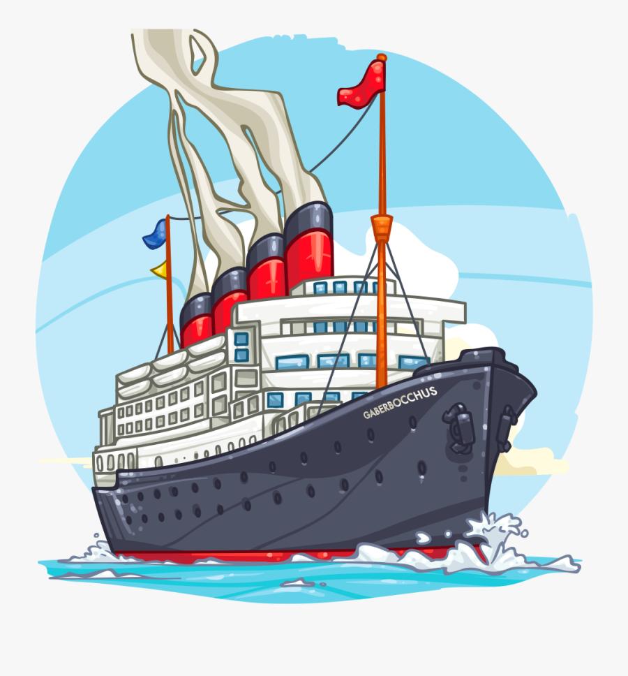 Clip Art Item Detail Ship Itembrowser - Cruise Ship Cartoon Png, Transparent Clipart