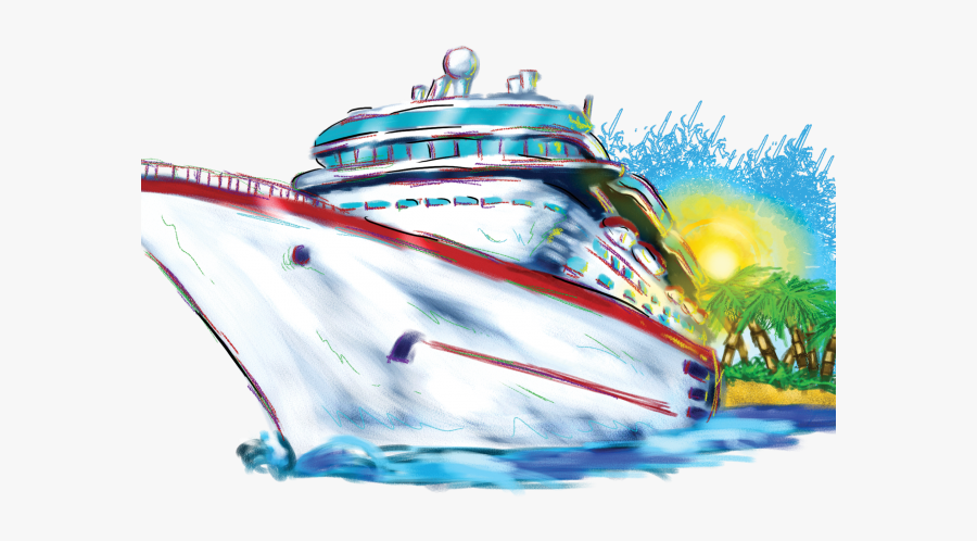 Cruise Ship Clip Art, Transparent Clipart