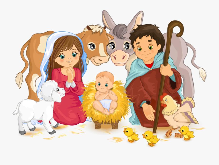 Manger Clipart Merry Christmas - Nacimiento De Jesus Animado, Transparent Clipart