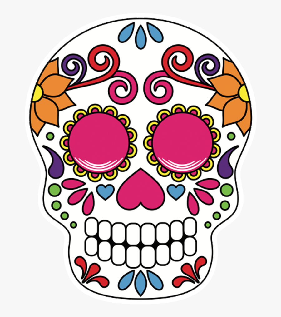 Sugar Skulls Pop Studios Props Graphic Transparent - Sugar Skull Photo Props, Transparent Clipart