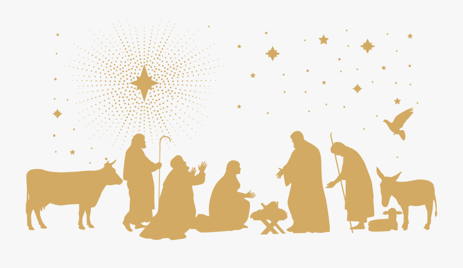 Christmas Nativity Black And White, Transparent Clipart