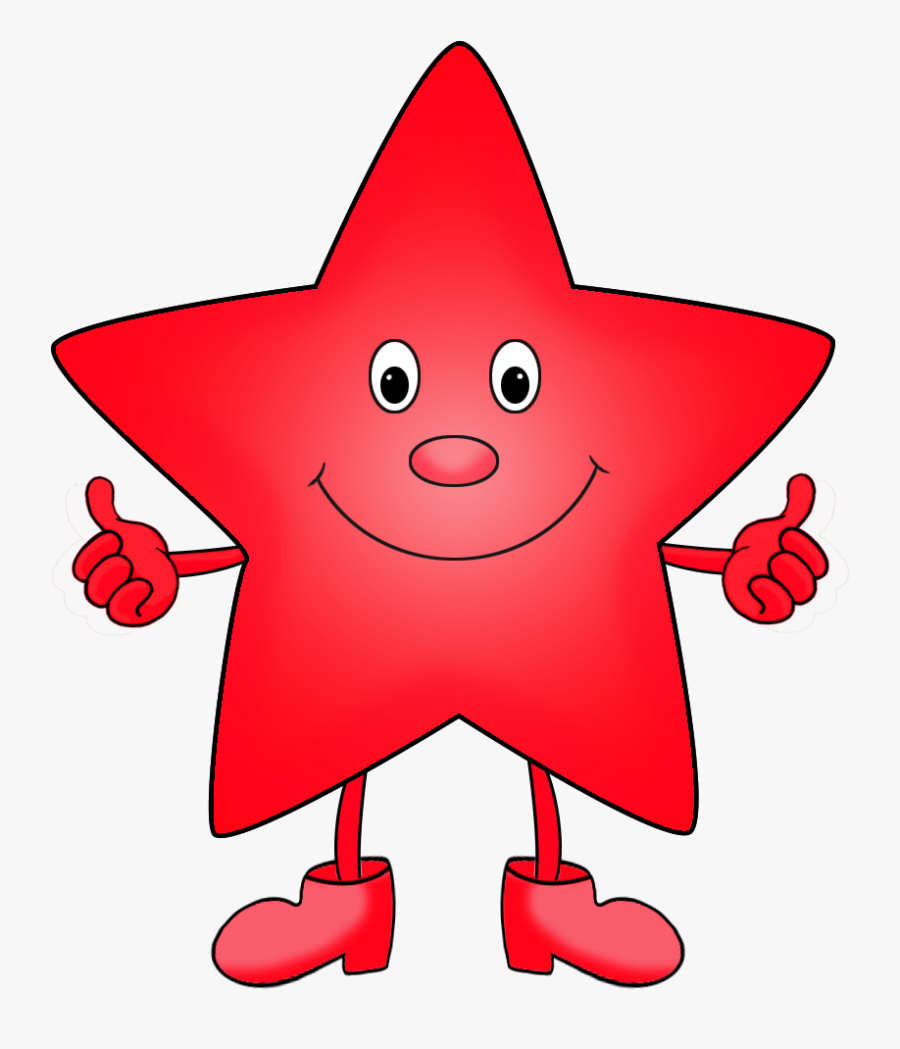 Red Cartoon Star Clipart - Cartoon Colorful Star Clipart, Transparent Clipart
