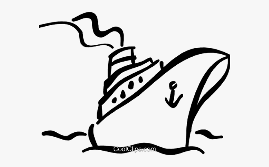 Cruise Ship Outline Clip Art - Cruise Ship Silhouette Svg, Transparent Clipart
