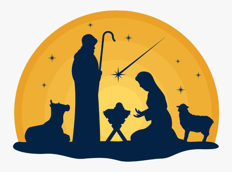 Merry Christmas Baby Manger, Transparent Clipart
