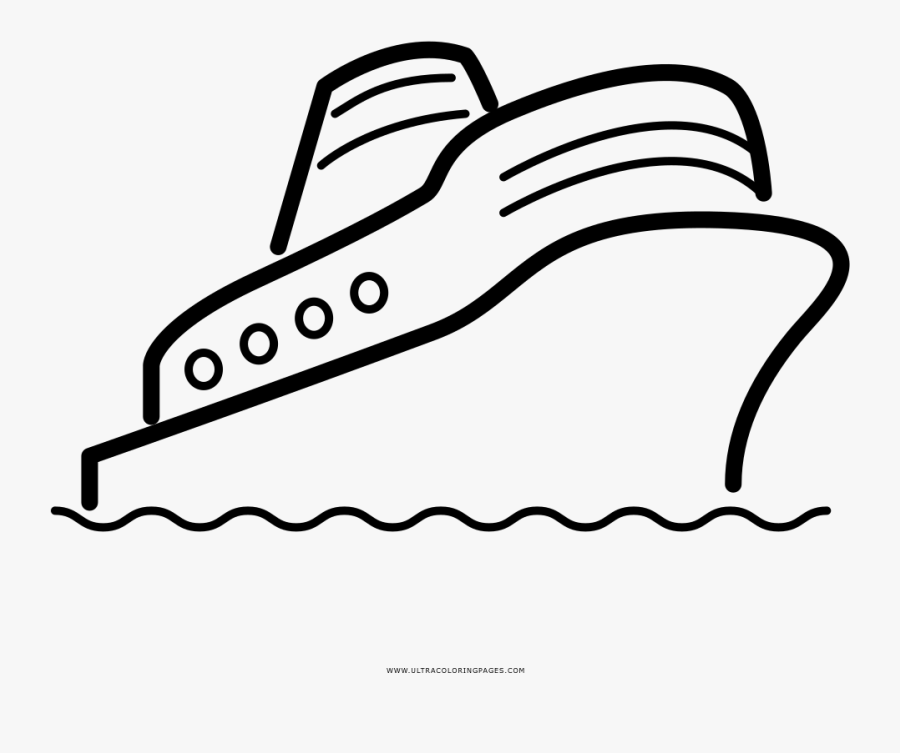 Cruise Ship Coloring Page - Cruise Ship, Transparent Clipart