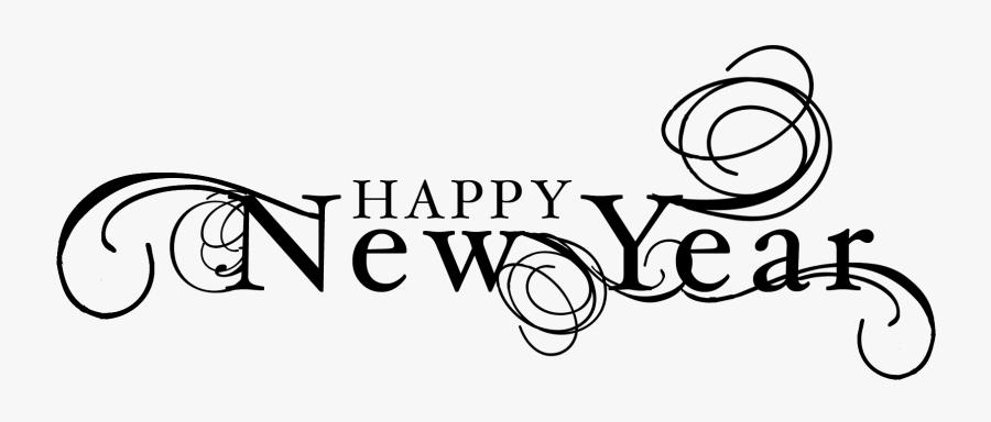 Happy New Year New Year 6 Black And White Clipart Clipart - Happy New Year Png, Transparent Clipart