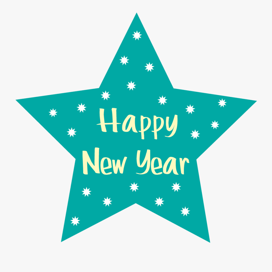 Happy New Year Free New Years Clipart Pictures Fireworks - Happy New Year Star, Transparent Clipart