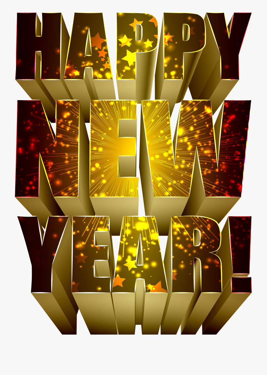 Clip Art Happy New Year Poster - Happy New Year Text Png, Transparent Clipart